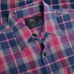 RRL plaid shirt XL/XXL